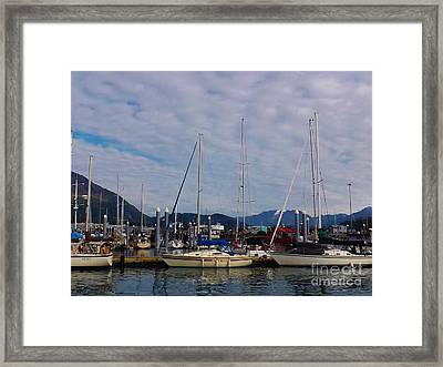 Seward Marina Framed Print