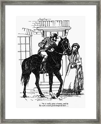 Sewell Black Beauty Framed Print by Granger