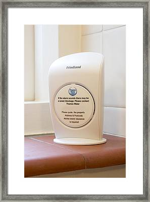Sewer Alarm Monitor Framed Print