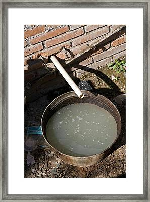 Sewer System Framed Print