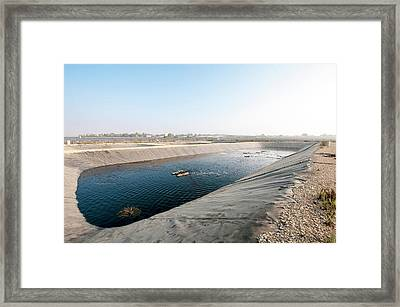 Sewerage Oxidation Pool Framed Print by Photostock-israel