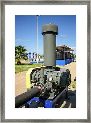 Sewerage Treatment Facility Framed Print by Photostock-israel