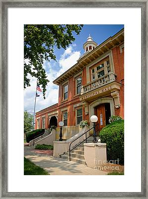 Sewickley Municipal Hall Framed Print by Amy Cicconi