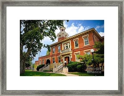 Sewickley Pennsylvania Municipal Hall Framed Print by Amy Cicconi