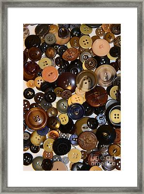 Sewing - Buttons And More Buttons Framed Print by Paul Ward