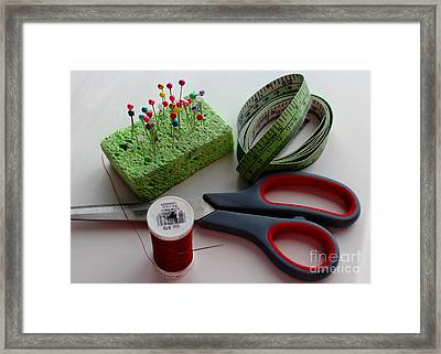 Sewing Essentials - Seamstress - Tailor Framed Print