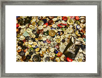 Sewing  Extra Buttons Framed Print by Paul Ward