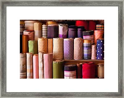 Sewing - Fabric  Framed Print by Mike Savad