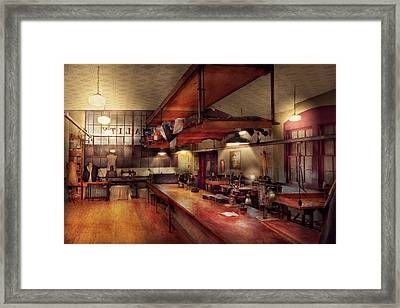 Sewing - Industrial - Tailored Made Clothing  Framed Print by Mike Savad