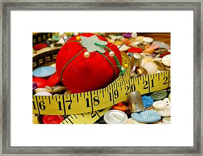 Sewing Items Framed Print