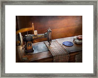 Sewing - It's Just Black And White  Framed Print by Mike Savad