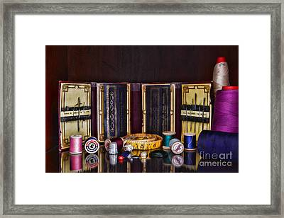 Sewing Kit Framed Print by Paul Ward