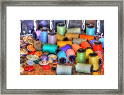 Sewing Kit Framed Print