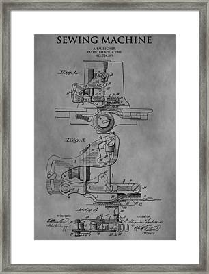 Sewing Machine Framed Print by Dan Sproul