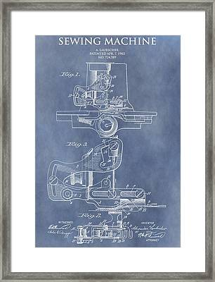 Sewing Machine Patent Framed Print by Dan Sproul
