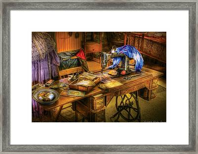 Sewing Machine  - Sewing Machine Iv Framed Print by Mike Savad