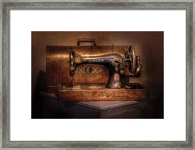 Sewing Machine  - Singer  Framed Print by Mike Savad