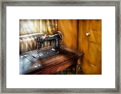 Sewing Machine  - The Sewing Machine  Framed Print by Mike Savad