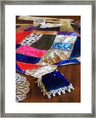 Sewing - Making A Quilt Framed Print