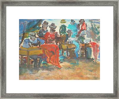 Sewing Market 'equador' Framed Print