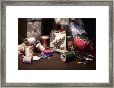 Sewing Notions II Framed Print by Tom Mc Nemar