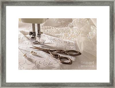 Sewing Scissors Framed Print