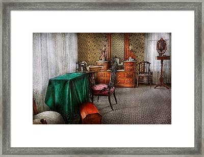 Sewing - Sewing Can Be Rewarding Framed Print by Mike Savad