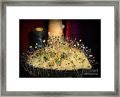 Sewing - The Pin Cushion Framed Print by Paul Ward