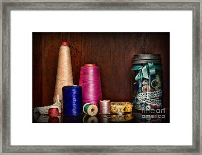 Sewing  Tools Of The Trade Framed Print by Paul Ward