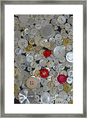 Sewing - When You Need A Button Framed Print by Paul Ward