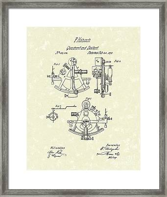 Sextant 1870 Patent Art Framed Print by Prior Art Design