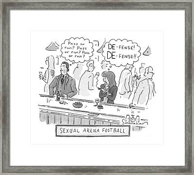 Sexual Arena Football Framed Print
