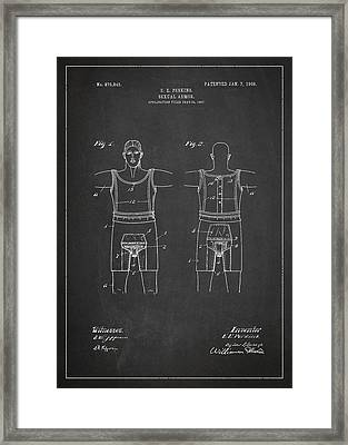 Sexual Armor Patent Drawing From 1908 Framed Print