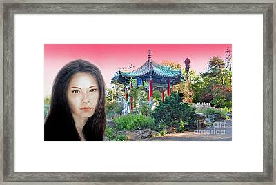 Sexy Freckle Faced Beauty Lucy Liu Altered Version II Framed Print by Jim Fitzpatrick
