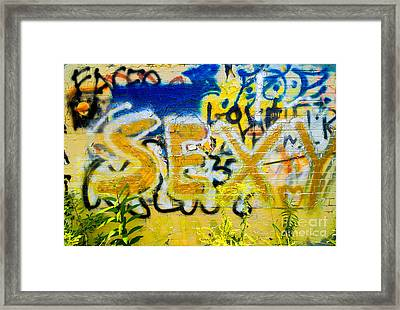 Sexy Graffiti Framed Print by Amy Cicconi