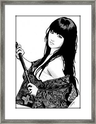 Sexy Samurai Framed Print