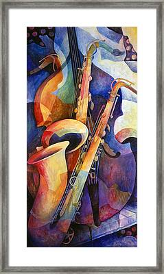 Sexy Sax Framed Print by Susanne Clark