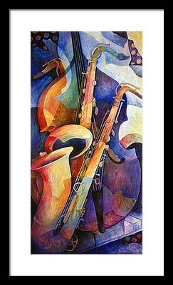 Saxophone Framed Prints