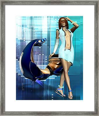 Sexy Scooter Framed Print by Frederico Borges