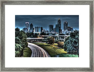 Sexy Skyline Of Charlotte  Framed Print