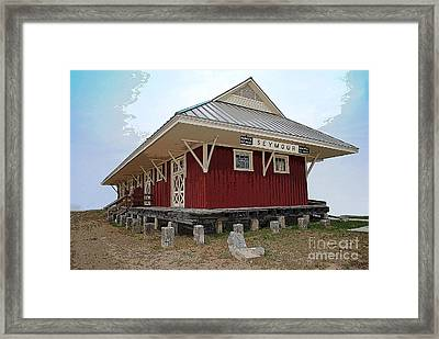 Seymour Indiana Train Station Framed Print by Jost Houk