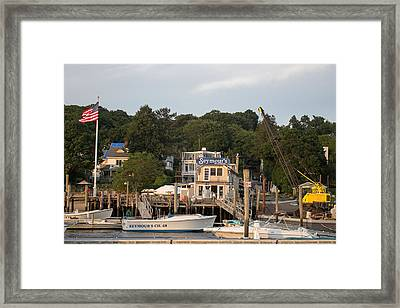 Seymours Northport New York Framed Print