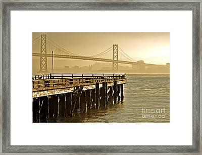 Sf Bay Bridge From Treasure Island Framed Print