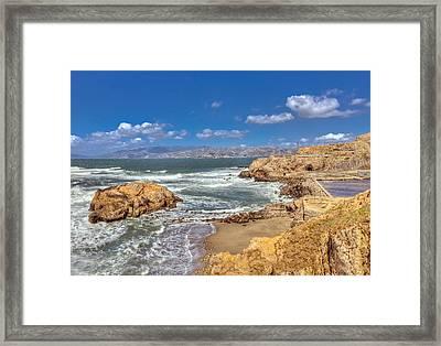 Sf Beach In Hdr Framed Print