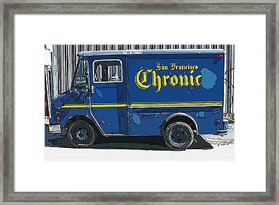 Sf Chronic Truck For Sale Framed Print