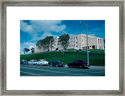 Sf City College 1956  2 Framed Print by Cumberland Warden
