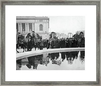 Sf Demonstration About Mooney Framed Print