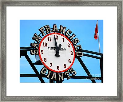 San Francisco Giants Baseball Time Sign Framed Print