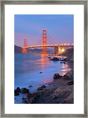 Framed Print featuring the photograph Sf Icon by Jonathan Nguyen