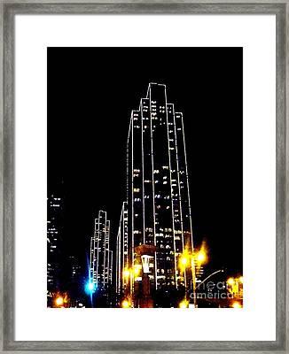 Sf Night Light Up Framed Print